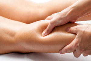 Deep Tissue Massage Therapy applied to leg