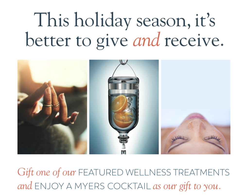 IV Myers Cocktail Massage Therapy Holiday Specials